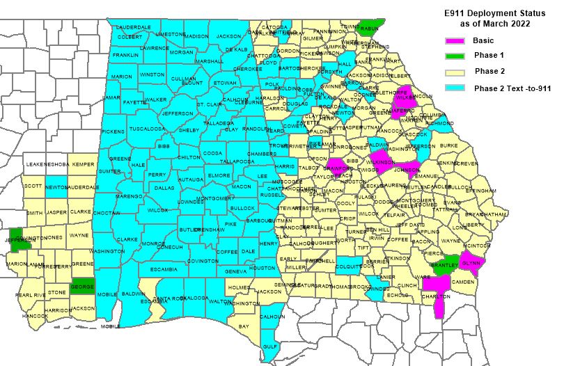 Enhanced AGPS SouthernLINC Wireless - At andt service map